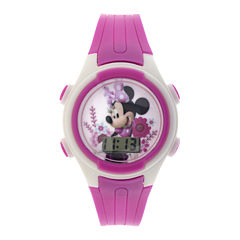 Disney Minnie Mouse Kids Pink Plastic Strap Digital Watch