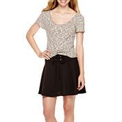Olsenboye® Ribbed Scoopneck Top or Ponte Lace-Up Circle Skirt