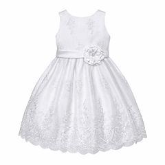 American Princess Sleeveless Empire Waist Dress - Preschool Girls