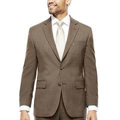 Stafford® Travel Brown Sharkskin Classic Fit Jacket