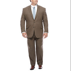 Stafford® Travel Stretch Brown Sharkskin-Big & Tall