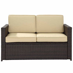 Crosley Palm Harbor Wicker Patio Sofa