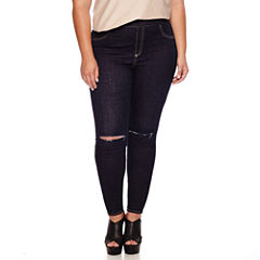 Ashley Nell Tipton for Boutique+ Pull-On Slashed-Knee Leggings - Plus