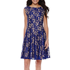 Danny & Nicole® Sleeveless Lace Fit-and-Flare Dress - Petite