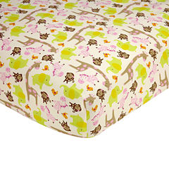 Carter's® Jungle Fitted Crib Sheet - One Size