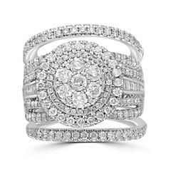 Womens 3 CT. T.W. Genuine Diamond 14K Gold Bridal Set