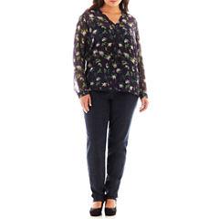 Liz Claiborne® Henley Blouse or Slim-Leg Jeans - Plus