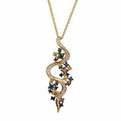 Grand Sample Sale™ by Le Vian® 1/2 CT. T.W Vanilla Diamonds®, Cherryberry Diamonds™ & Blueberry Diamonds® in 14k Honey Gold™ Pendant Necklace