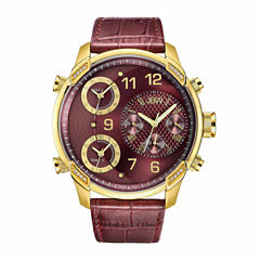 JBW Men's G4 0.16 ctw Diamond 18k gold-plated stainless-steel Watch J6248LP