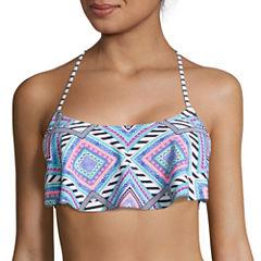Arizona Mix & Match Flounce Bralette Swim Top - Juniors