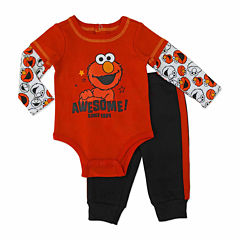 Sesame Elmo Boys Sesame Street Pant Set NB-24M