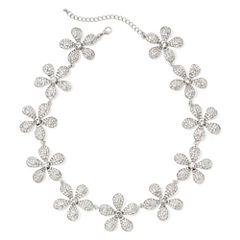 Natasha Crystal Flower Statement Necklace
