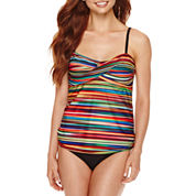 a.n.a® Ombre Striped Twist Swim Tankini Top or Foldover Hipster Swim Bottoms