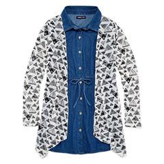 Limited Too Short Sleeve Shirt Dress - Big Kid Girls