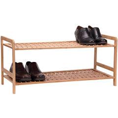 Household Essentials® 2-Tier Bamboo Shoe Rack