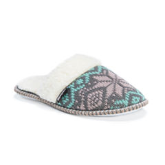 Muk Luks Acrylic Slip-On Slippers