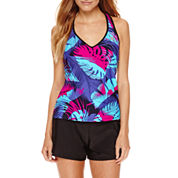 ZeroXposur® Glade Sunray Tankini Swim Top or Knit Action Shorts