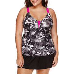 ZeroXposur® Lokoai Floral Tankini or Knit Action Shorts - Plus