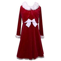 Bonnie Jean Long Sleeve Empire Waist Dress - Girls 7-16 and Plus