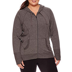 Xersion™ Long-Sleeve Curve Seam Front-Zip Hoodie - Plus
