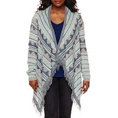 Arizona Long-Sleeve Blanket Cardigan - Juniors Plus