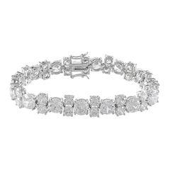 CZ by KENNETH JAY LANE Cubic Zirconia 5-Stone Pattern Bracelet