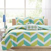 Mi Zone Holly Chevron Comforter Set