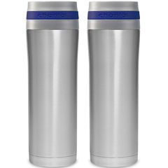 Chantal® 2-pc. 15-oz. Stainless Steel Travel Mug Set
