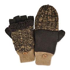 MUK LUKS® Cable Knit Fingerless Flip Top Gloves