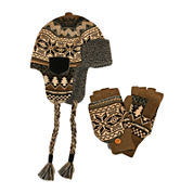 MUK LUKS® 2-pc. Nordic Trapper Hat and Flip Gloves Set