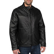 Excelled® Nappa Leather Racing Jacket–Big & Tall