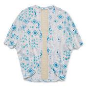 Arizona Lace-Inset Cocoon Cardigan - Girls 7-16 and Plus