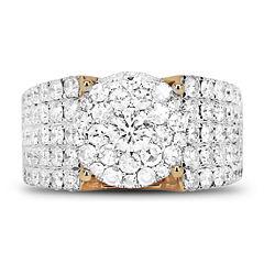 Womens 2 1/2 CT. T.W. Genuine White Diamond 14K Gold Band