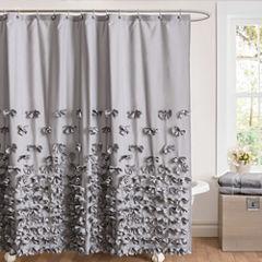 Lush Décor Juliet Bow Shower Curtain