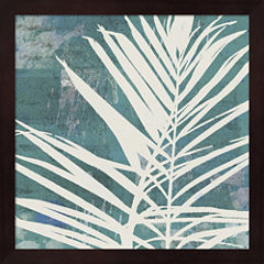 Fronds On Azure Framed Wall Art