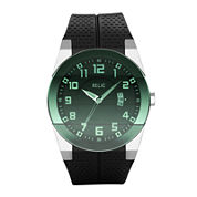 Relic® Mens Green Dial Black Strap Watch ZR11860