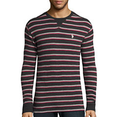 U.S. Polo Assn.® Long-Sleeve Striped Thermal Shirt