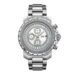 JBW Stainless Steel Titus Mens Silver Tone Bracelet Watch-J6347b