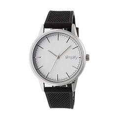 Simplify Mens Black Strap Watch-Sim5201