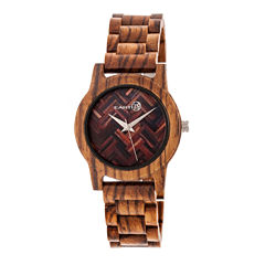Earth Wood Crown Unisex Green Bracelet Watch-Ethew4504