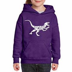 Los Angeles Pop Art Velociraptor Long Sleeve Sweatshirt Girls