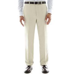 Stafford® Travel Flat Front Microfiber Dress Pants - Classic