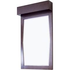 American Imaginations Transitional Birch Wood-Veneer Bathroom Mirror
