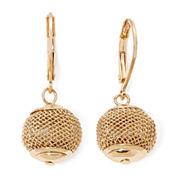 Monet® Gold-Tone Mesh Ball Drop Earrings