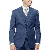 Stafford® Travel Medium Blue Suit Jacket - Slim Fit