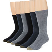 Gold Toe® 6-pk. Harrington Casual Crew Socks - Big & Tall