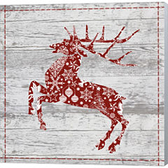 Xmas Sign II Gallery Wrapped Canvas Wall Art On Deep Stretch Bars