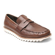 Banana Blue Beck Mens Leather Boat Shoes