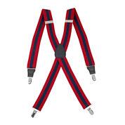 Status Striped Drop-Clip Belt Suspenders