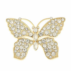 Monet® Crystal Butterfly Pin
